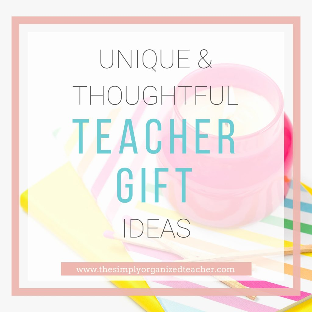 Looking for unique and creative gift ideas for teachers? This list shares numerous unique gift ideas at various price points as well!