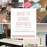 Start the new semester out with a plan for your back to school routines from this blog.