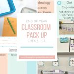 Classroom Packup list to help teachers pack up their classroom at the end of the school year.