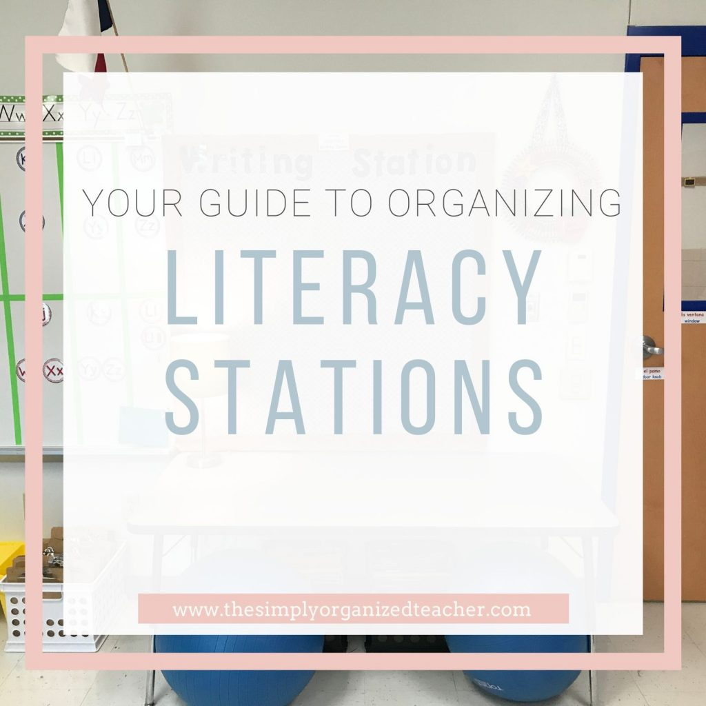 Looking to organize your elementary literacy stations. Look no further! This post tells you how!