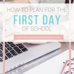 Activities and tips for planning for the first week of school.