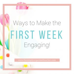 """Text overlay: """"Ways to Make the First Week Engaging."""""""