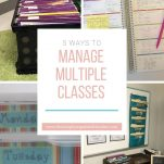Do you have multiple classes as an elementary teacher? This post shares how you can keep all the classes organized and well managed.
