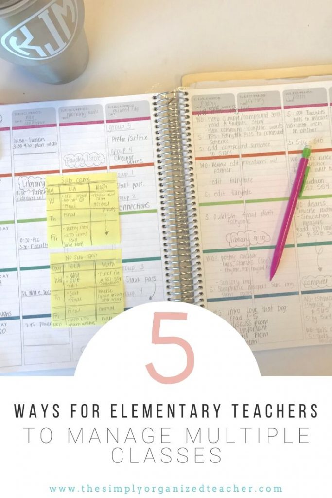 Manage multiple elementary classes with ease by utilizing these 5 steps.