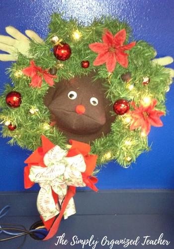 A close up of a christmas decoration