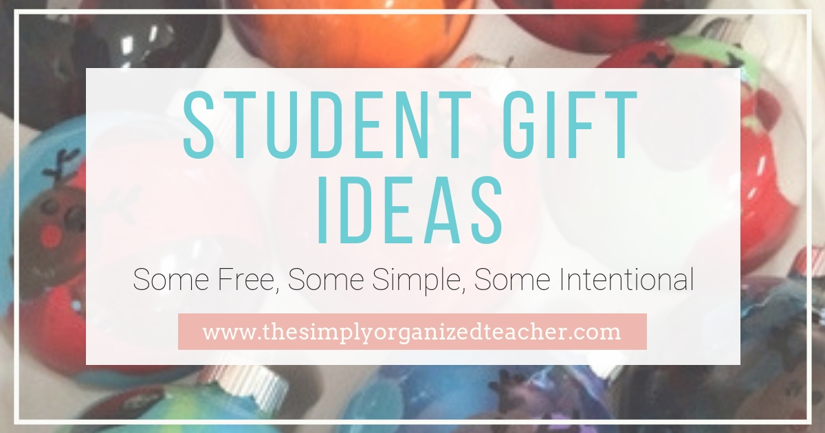 Student gift ideas that are free {or cheap!} to give to your students this holiday season!