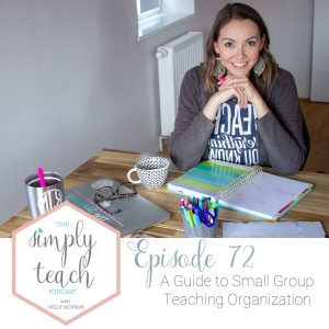 Looking to organize a small group teaching area? This post and video will show you exactly how you can organize your small group teaching materials and area.
