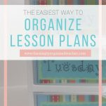 Organize your lesson plan materials for ease and quick access with these steps and video