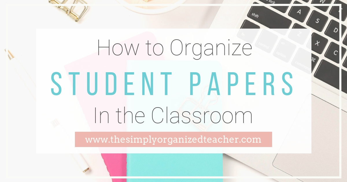 Video and steps to organize student papers in your elementary classroom.