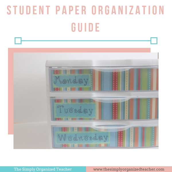 Organize student materials with this resource and step by step guide.