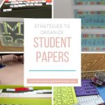 Looking to organize all the papers in your classroom? This post shares how you can organize student papers