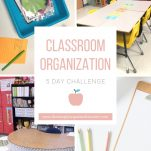 Begin the process of organizing your classroom with this free 5 day challenge
