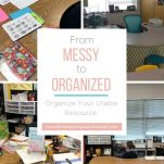 Organize your utable or teacher desk by following these 5 simple steps!