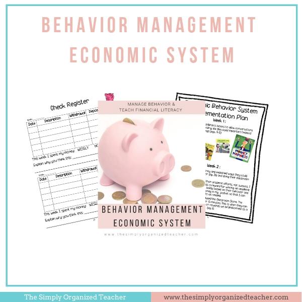 screen shot of behavior management economic system resources.
