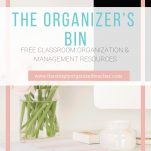 Access free Classroom Organization and Management resources like a Classroom Makeover Goal Planning sheet, a Student Menu board for behavior management, a packing list of the end of the school year and much more!