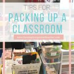 Pack up your classroom with ease using this free checklist.