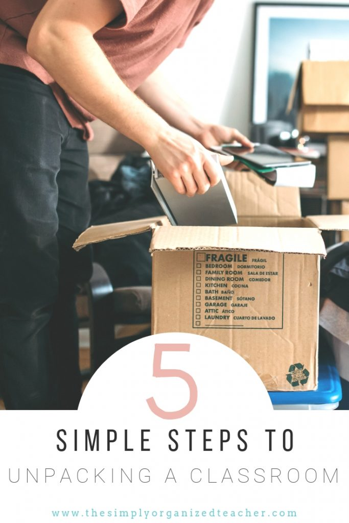 Looking to unpack your classroom in an organized and simple way? This podcast will share the steps for unpacking and setting up your classroom.