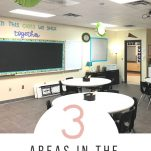 Classroom teachers can organize their classroom starting with these three areas. These are the most important ares to organize when setting up your classroom.