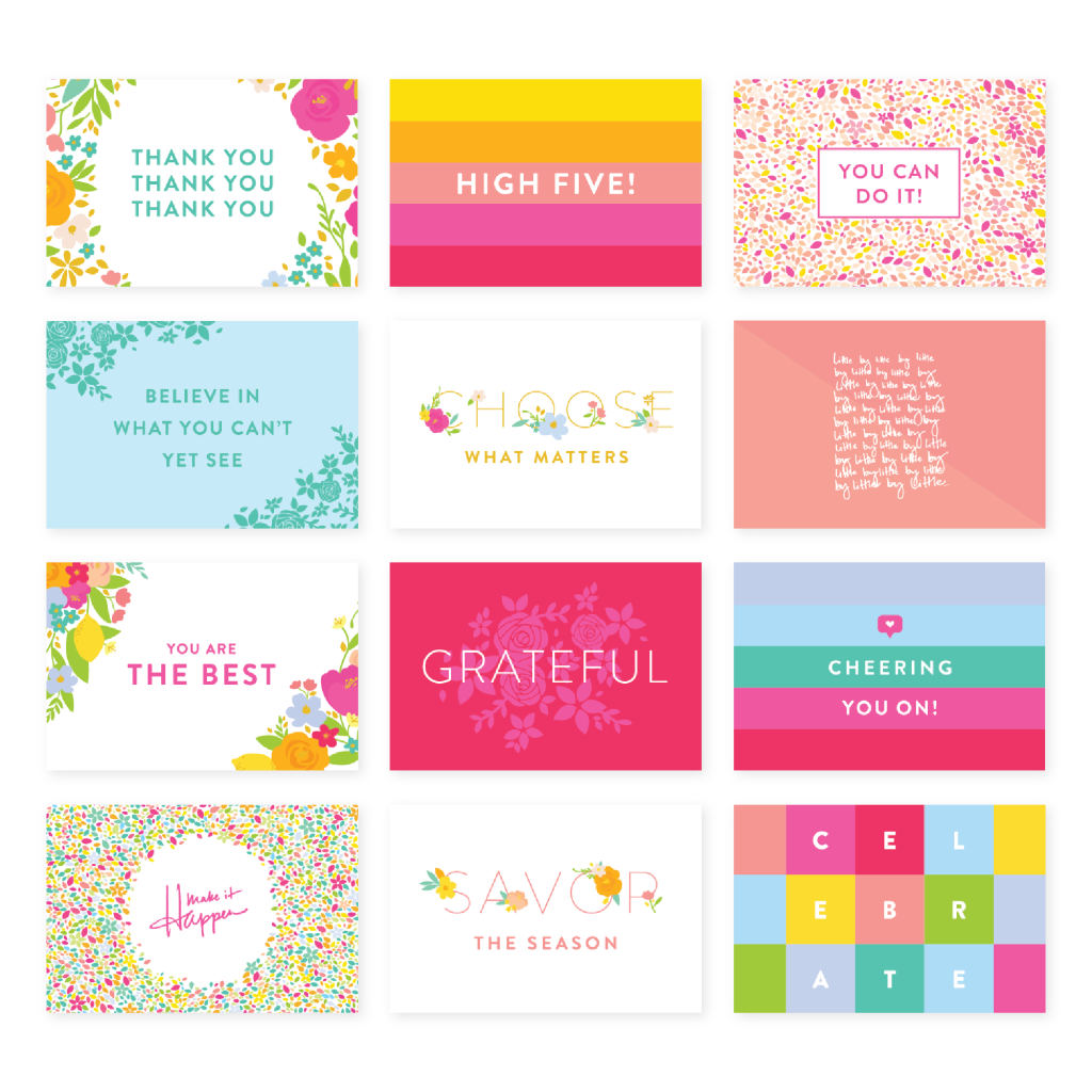 Collection of stationary cards.
