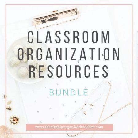 Text overlay: Classroom Organization Resources Bundle