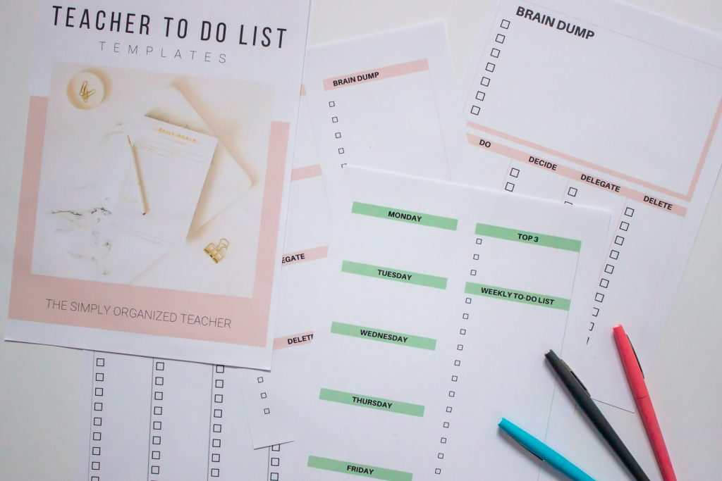 Teacher To-do list templates
