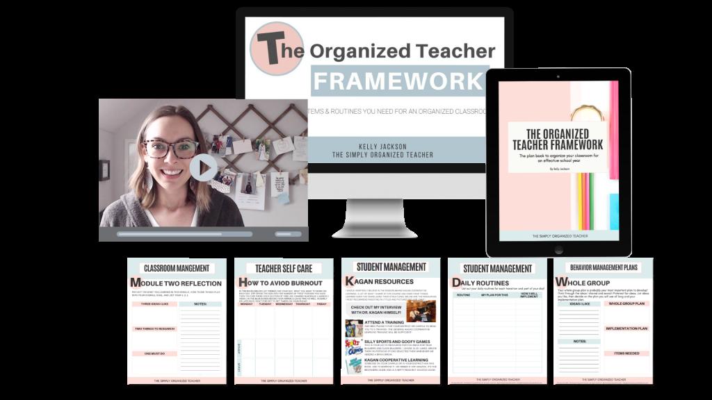 Screenshot of resources inside The Organized Teacher Framework™ course.