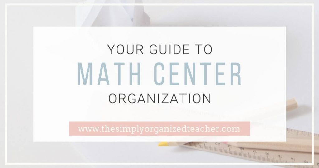 Felling disorganized with how to set up and manage your math centers? This post shares 4 stations you can use and how to manage them all in an organized way.