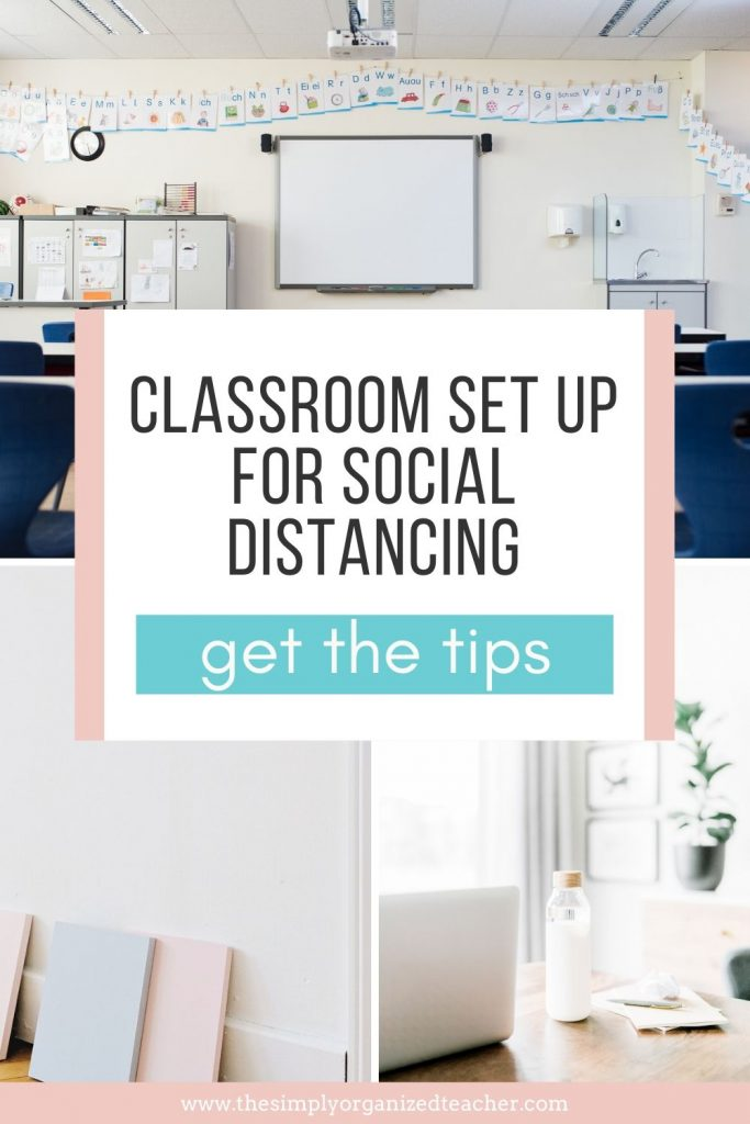 Classroom setup with social distancing measures in place can be hard. These tips will share some practical ideas to help you organize and setup your classroom with social distancing. You can also get access to a free training to help you plan for the new school year.