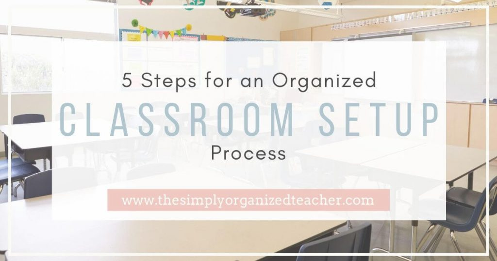 How to unpack and set up your elementary classroom to create organization that will last all year long. The steps you need to unpack, set up, and prepare your classroom for a new school year.