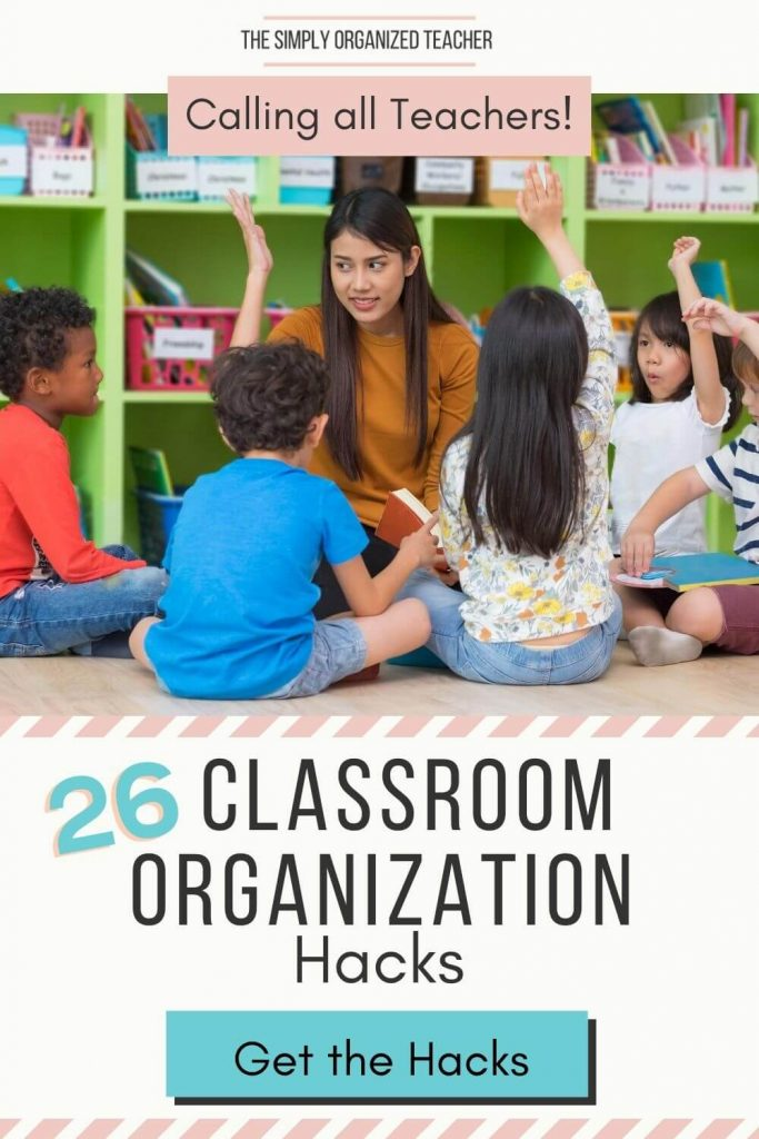 Looking to improve your organization at school? This list with 20+ classroom organization hacks will help you create and maintain an organized classroom.