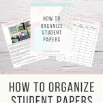Teachers can organize student papers with this free paper organization guide. The Simply Organized Teacher shares tips inside the video and free downloadable guide to creating a paper workflow for student papers.