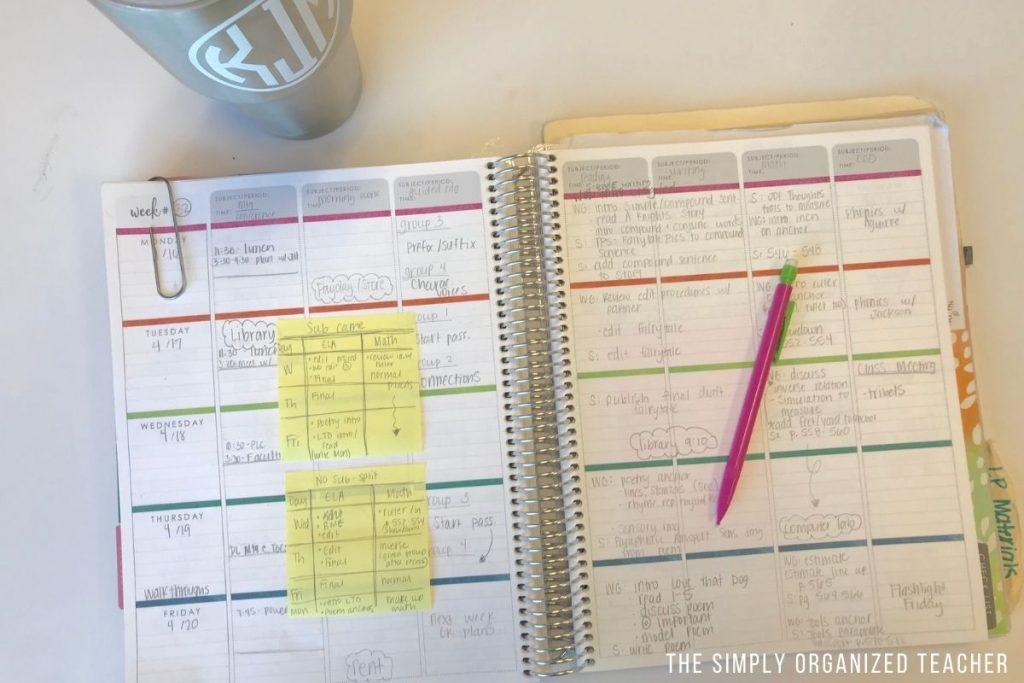 Lesson planning planner