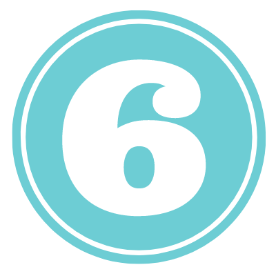 blue circle with number 6