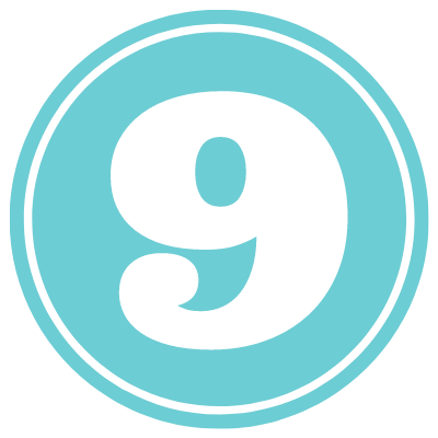 blue circle with number 9