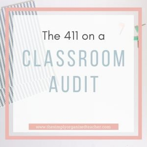 "Text overlay: ""The 411 on a Classroom Audit"""