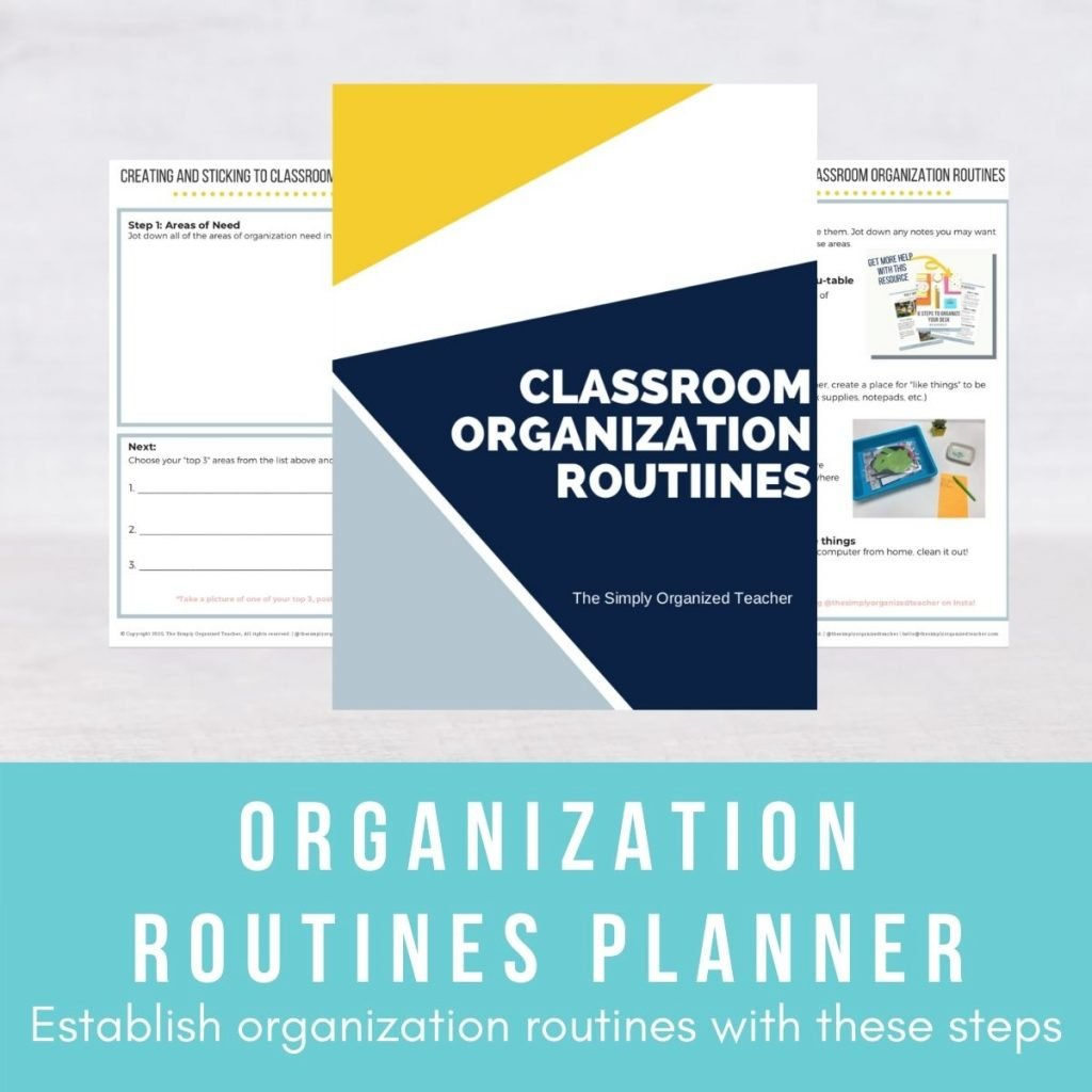 Screen shot of pages inside the Organization Routines Planner.