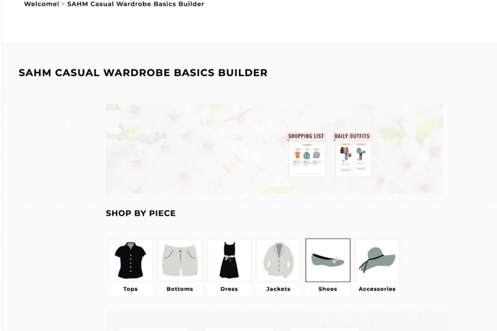 Screenshot of Outfit formulas portal with links to shop for different items.