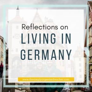 Text overlay: Reflections on Living in Germany
