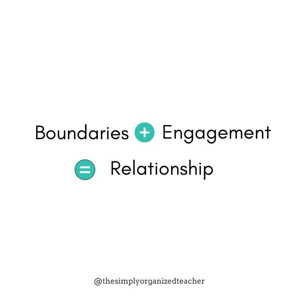 "Text overlay: ""Boundaries + Engagement = Relationship"