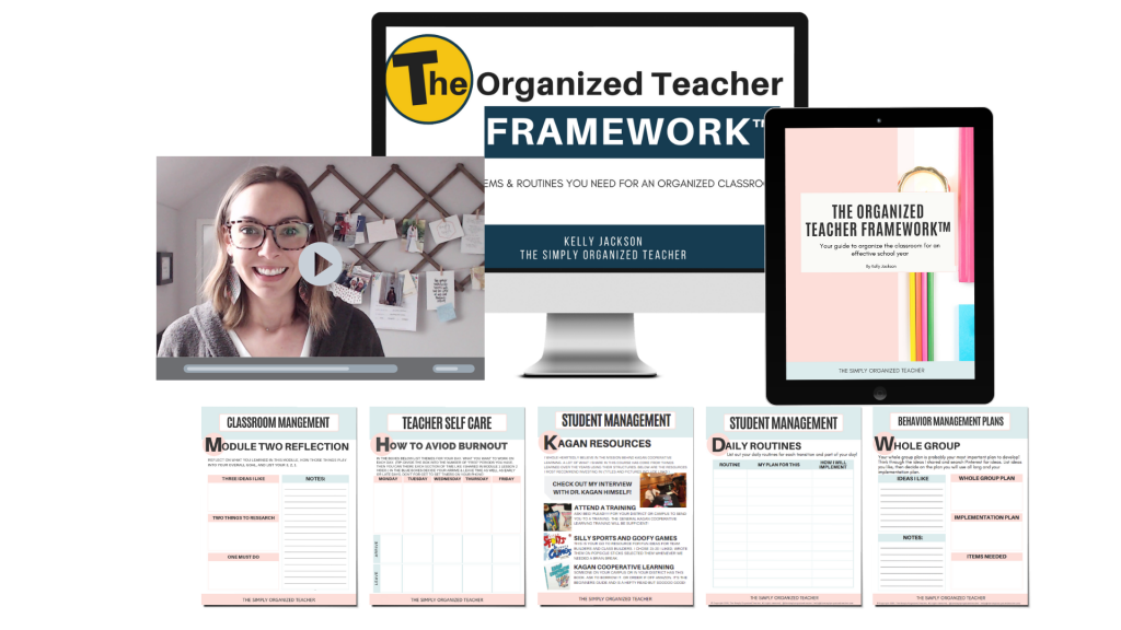 Screenshot of resources included in The Organized Teacher Framework™ course.